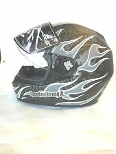 875782 Speed and Strength 700 Silver Matte Trial By Fire Medium Full Face Helmet