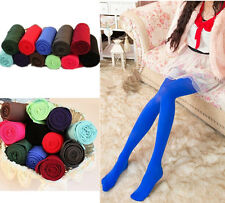 Sexy Elastic Pantyhose Slim Tights Opaque Womens Socks Footed Candy Color