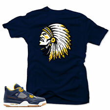 """T Shirt to match Nike Air Jordan IV 4 Retro Dunk From Above """"The CHIEF"""" Navy tee"""