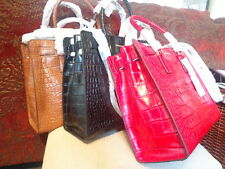 MICHAEL Kors Dillon Large NS Croco Embossed Tote/Bag - Dk Red,Chili,Black,Walnut