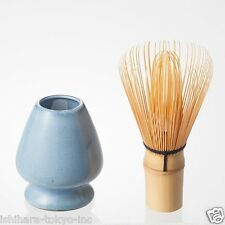 Matcha Chasen Set - Matcha Bamboo Whisk 80 & Whisk Stand (3 color) from Japan