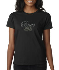 Bride To Be Rings Bachelorette Party Rhinestone Ladies Tee Shirt