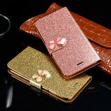 Bling Luxury PU Leather Magnetic Flip Stand Wallet Cover Case For Apple iPhone