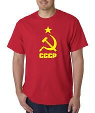 CCCP Logo Russian Russia Soviet Union KGB Moscow Cold War T-Shirt S-5XL