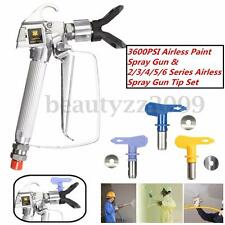 Airless Paint Sprayer Gun 3600PSI High Pressure Machine w/ 2-6 Spray Tip & Guard