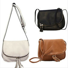 Women Lady Elegant Leather Bags Handbag Tote Tassel Purse Shoulder Bag Satchel