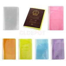 10Pcs Clear Thin Passport Cover Holder Case Organizer ID Card Protector Travel