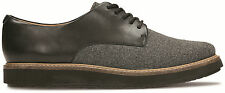 Clarks Womens Glick Darby Grey Combi Casual Leather Lace Up Shoe