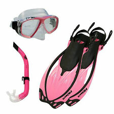 Pink Mask, Fins, Snorkel Set, Snorkeling, SCUBA, Diving  by Promate        S3
