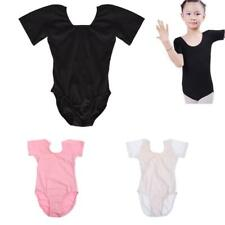Girl's Cotton Short Sleeve Leotards Stretchy Dance/Gym/Ballet Sport Colour&Sizes