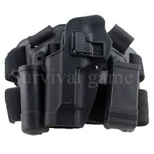 Tactical Left Drop Leg Thigh Holster w/ Magazine Torch Pouch for Beretta M9 M92