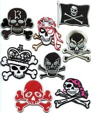 Skull & crossbones jolly roger flag applique iron-on patch new your choice SK-4