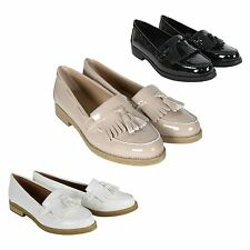 Womens Flat Casual Loafers Office Work School Fringe Tassel Ladies Pumps Shoes