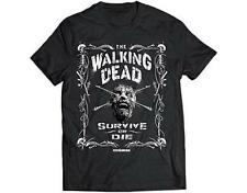 OFFICIAL LICENSED - WALKING DEAD - SURVIVE OR DIE T SHIRT DARYL ZOMBIE