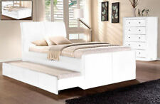 NEW New Lecca King Single with Trundle Bed PU Leather Bed Frame