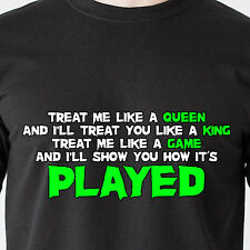treat me like a queen and I'll treat you like a king treat retro Funny T-Shirt