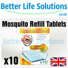 10 x Mosquito Refill Tablets For Electric Plug Insect Repeller | Travel Holiday