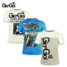 GIO GOI JUNIOR BOYS COTTON T SHIRT RRP £14.99 0 GREY, BLUE, WHITE - BARGAIN!