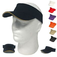 1 DOZEN WASHED SANDWICH COTTON SUN BEACH VISOR VISORS GOLF WHOLESALE LOT BULK