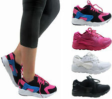 LADIES WOMEN RUNNING FITNESS GYM SPORT HUARACHES INSPIRED CASUAL TRAINER SHOE