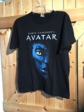 "Avatar  T Shirt Top Size M Chest 34""-36"" In Black Motif Back & Front"