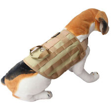 Tactical K9 Soft Molle Compact Dog Vest Service Dog Harness with Handle
