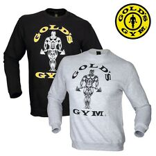 Golds Gym Sweater Fitted Sweatshirt sweater - Fitness Bodybuilding NEW
