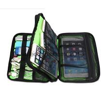 Double-layer Muti-Function Storage Carry Bag Case for USB Cable Tablet