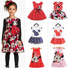 Kids Baby Girls Cute Minnie Mouse Sleeveless Tank Dress Party Princess Sundress