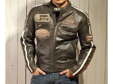 Men's Genuine Buffalo Leather Motorcycle Jacket NEW!.Biker Route 66 Jacket XL