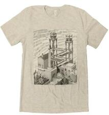 "MC Escher ""Waterfall"" Art Print Men's T-Shirt  S-3XL"
