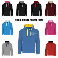 Custom Embroidered Contrast Premium Hoodie Personalised with ur Text