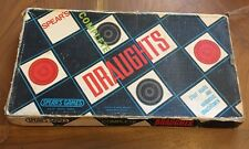 Vintage Draughts Board Game Spears Wooden Draughtsmen retro gift