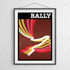 VINTAGE BALLY BROWN 1981 VILLEMOT POSTER PICTURE PRINT Size A5 to A0 **NEW**