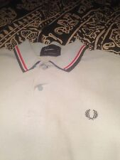 Fred Perry polo size small 100% cotton pique mod skinhead oasis blue