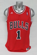 NEW MENS CHICAGO BULLS DERRICK ROSE ADIDAS RED REPLICA ROAD JERSEY