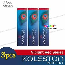 3 x Wella Koleston Perfect Permanent Hair Color Dye 60g Vibrant Reds