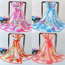 Lady Women's Long Soft Wrap Shawl Silk Chiffon Beach Scarf Summer Scarves L2I8