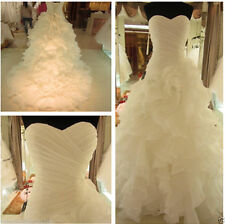 2016 New White/Ivory Wedding Dress Bridal Gown Stock Size 6 8 10 12 14 16 18