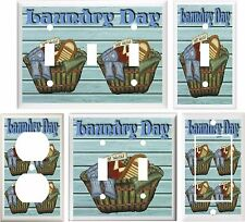 LAUNDRY DAY BASKET LIGHT SWITCH COVER PLATE OR OUTLET V349