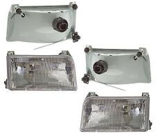 New LH/RH Clear Lens Headlight PAIR FOR 1999 2000 2001 REXHALL ANTHEM