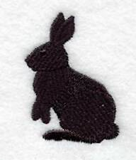Custom Embroidered Iron/Sew on Rabbit Bunny Silhouette Applique, Badge, Patch