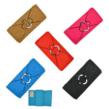 Women Lady Soft Synthetic leather Clutch Wallet Long Card Purse