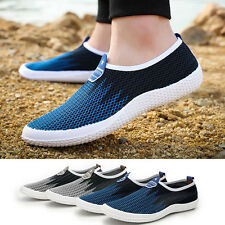 Mens Flat Shoes Breathable Mesh Casual Sneakers Running Comfortable Soft Loafers