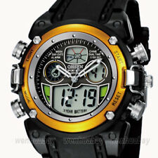 OHSEN Two Times Alarm Chronograph Sport Casual Men's Quartz Wrist Watches Gifts