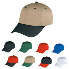 6 Panel Low Crown Cotton Twill Baseball  Snap Closure Hats Caps