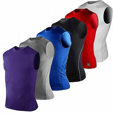 Mens Under Skin Shirt Tops Compression Base Layers Tank Top Vest Muscle Gym Wear