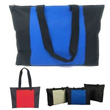 LARGE Zippered Reusable Heavy Duty Grocery Shopping Tote Totes Bag Bags