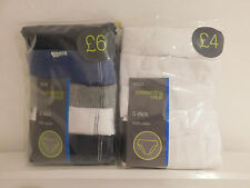 EX BRAND NEW MARKS & SPENCER'S BOYS 5 PACK BRIEFS / SLIPS / M&S FREE POSTAGE