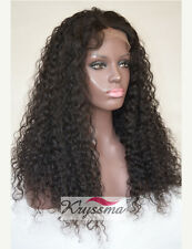 Best Soft Curly Real Brazilian Remy Human Hair Glueless Front Lace Wigs 12-22""